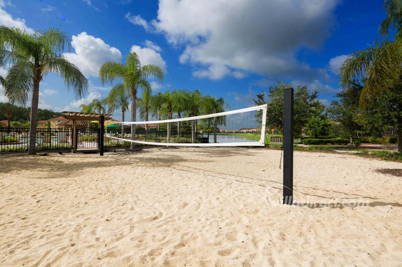 Volleyball court at Bella Vida