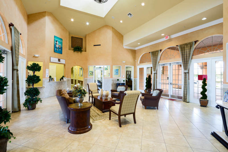 Lobby at Bella Vida clubhouse