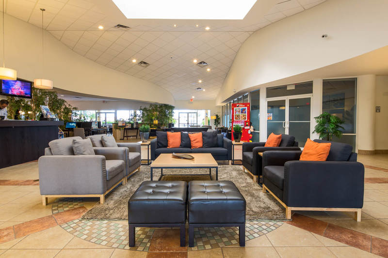 Clubhouse lobby at Encantada resort