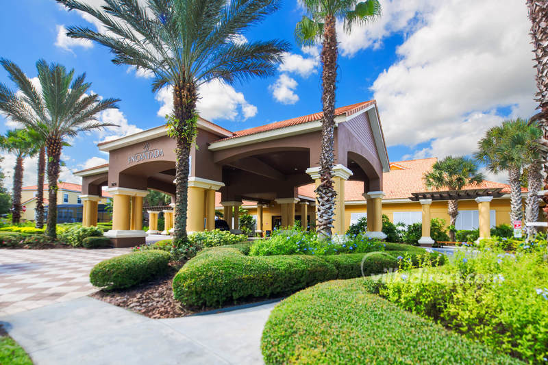 Clubhouse driveway at Encantada resort