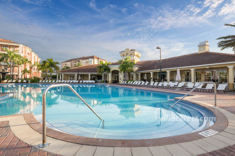 Resort pool deck at International Drive