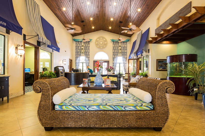 The grand reception hall at Paradise Palms