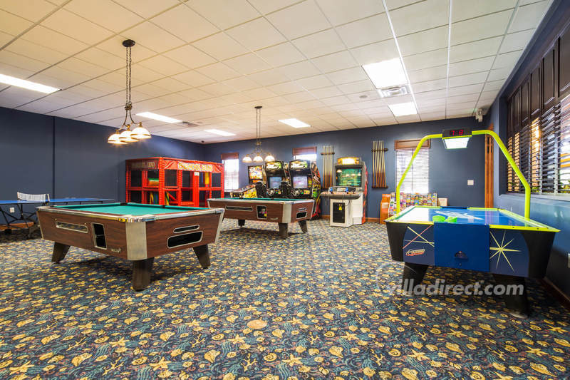 The games room at Paradise Palms
