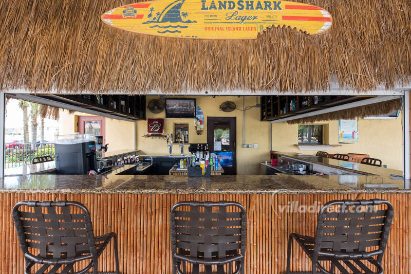 The bar at Paradise Palms resort