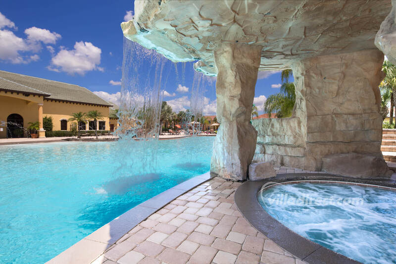The grotto spa at Paradise Palms