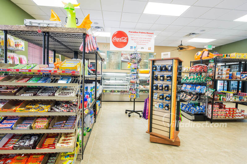 The sundry shoppe at Paradise Palms Resort