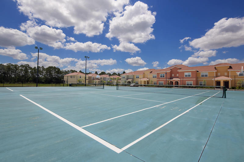 The tennis courts at Paradise Palms