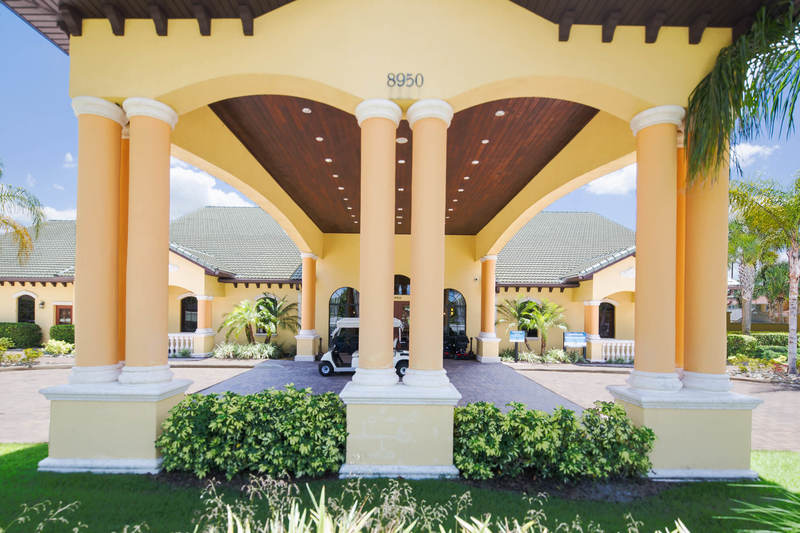 Clubhouse entranceway
