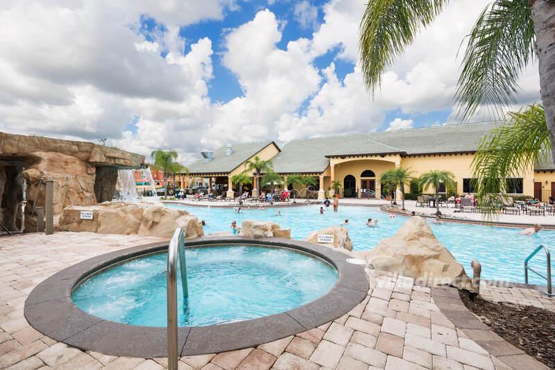 The hot tub/spa at Paradise Palms resort