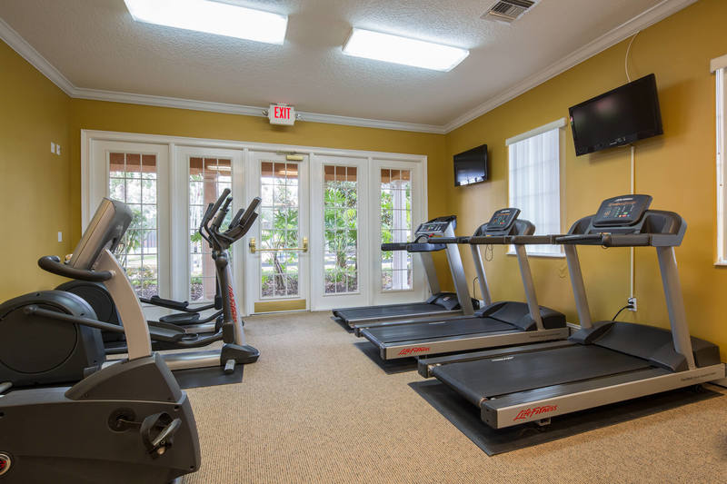 The fitness suite at Solana resort