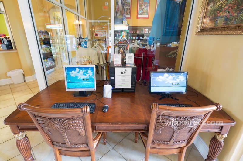 Internet cafe at Solana resort
