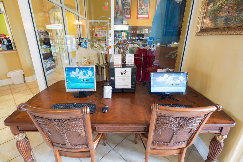 Internet cafe at Solana resort