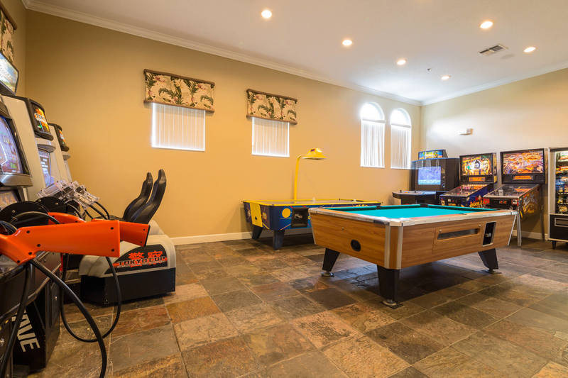 The games room at Terra Verde clubhouse