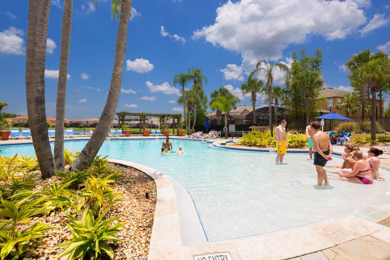 Pool side fun at the Terra Verde clubhouse