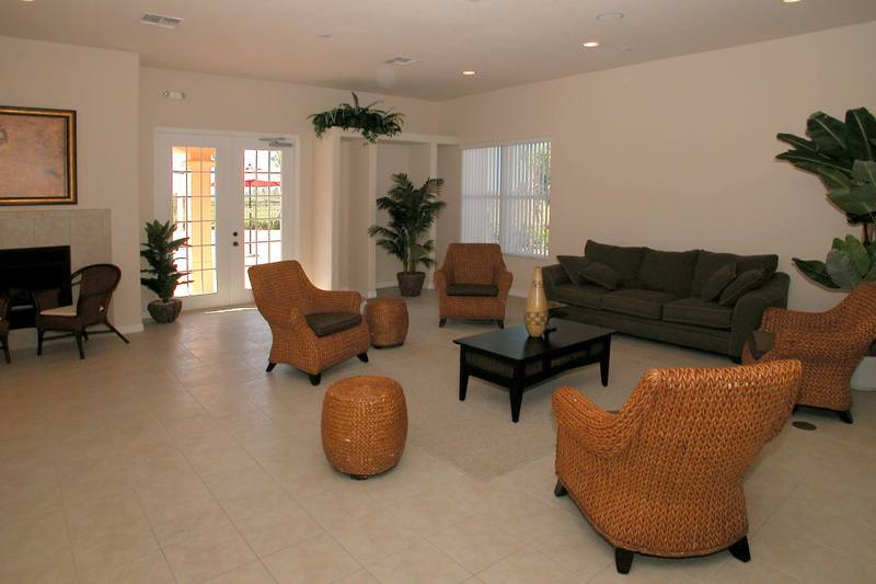 The sitting room in the Villa Sol clubhouse