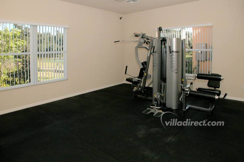 Multi gym excercise room at Villa Sol