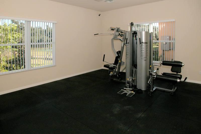 Multi gym excercise room at Villa Sol