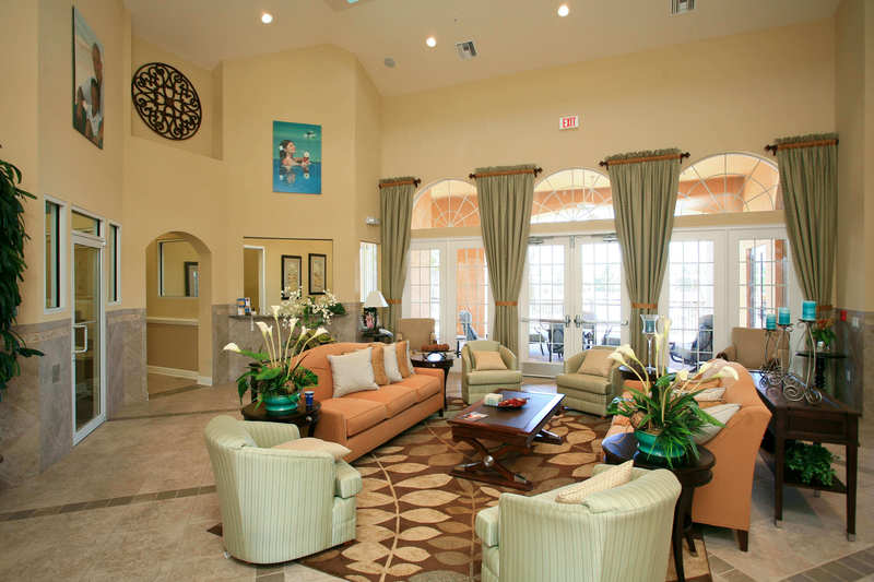 The lobby at Watersong clubhouse