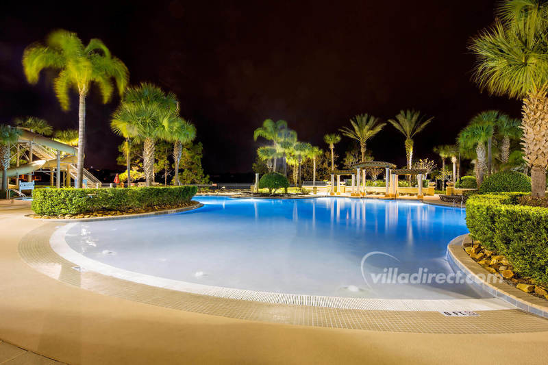 The lagoon pool at night