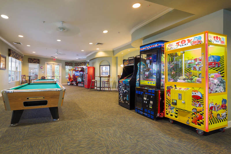 The games room in Windsor Hills clubhouse