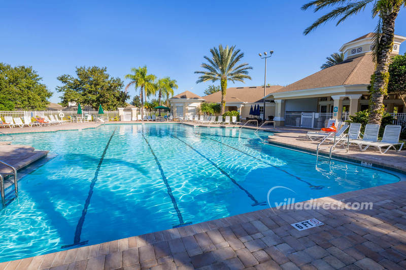 Heated pool at Windsor Palms resort