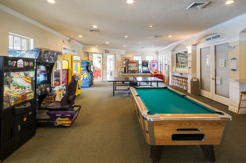 Games room and arcade