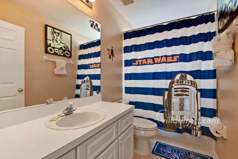 Shared family bathroom