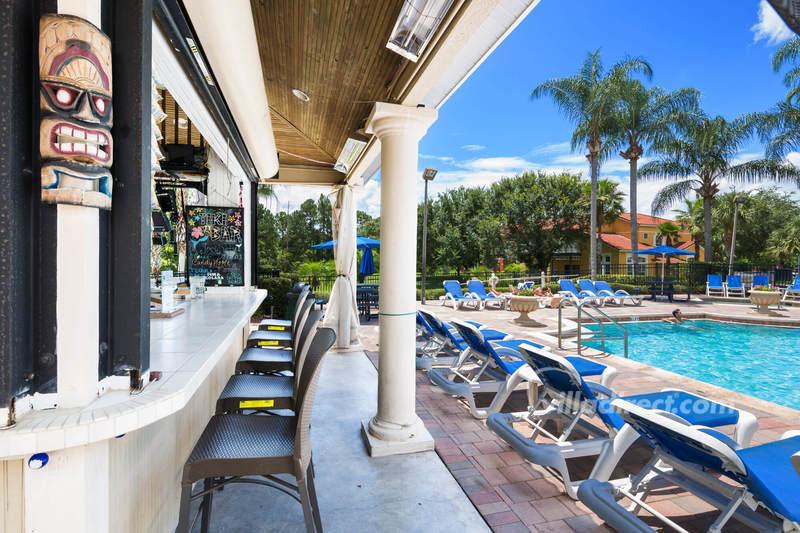 Resort pool and tiki bar